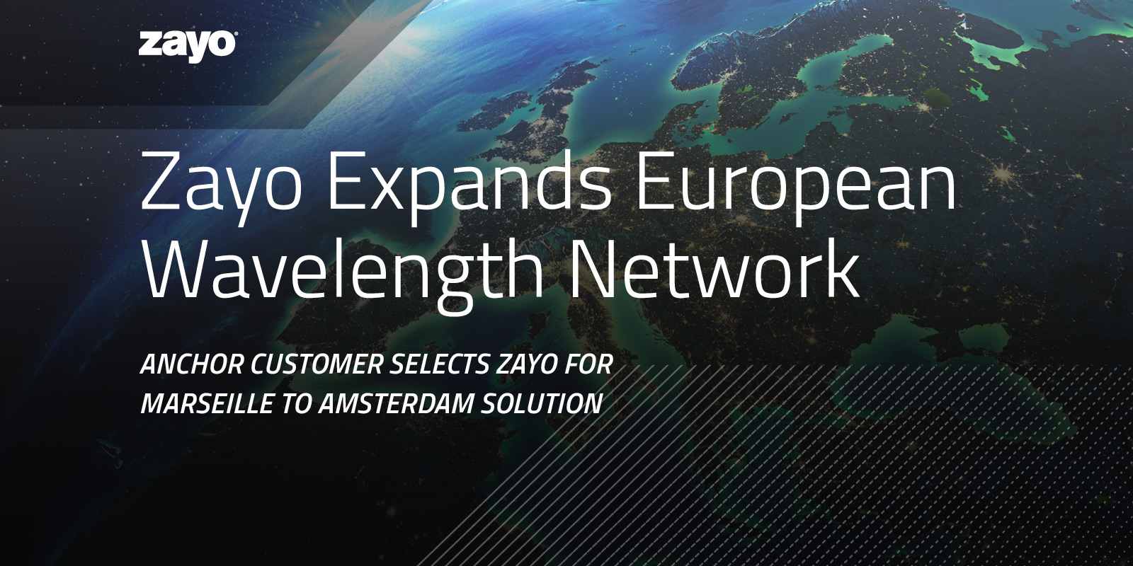 Zayo Expands European Wavelength Network